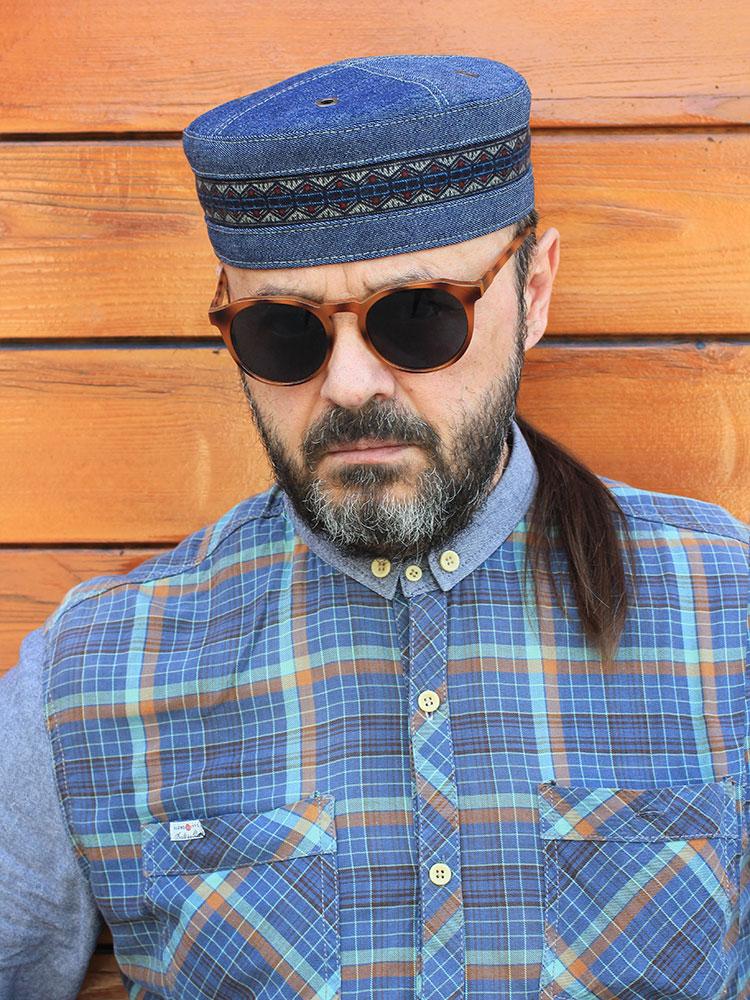 African ethnic Kufi hat skullcap Twilight Blues 03 buy in Moscow ... 1893c5524dfa