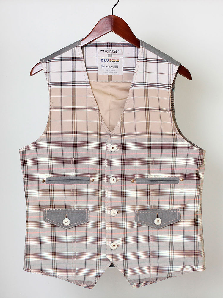 My Mom's Dude 01 cotton waistcoat