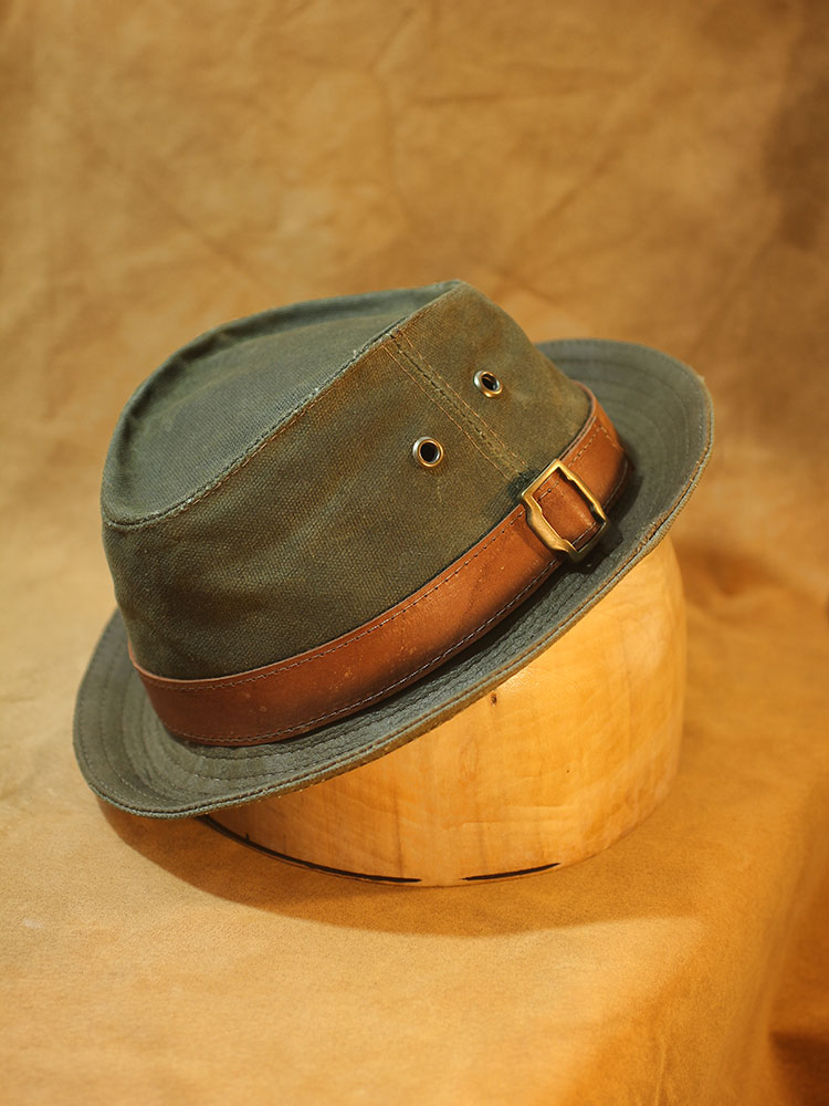 Waxed cotton canvas trilby hat TRL-03