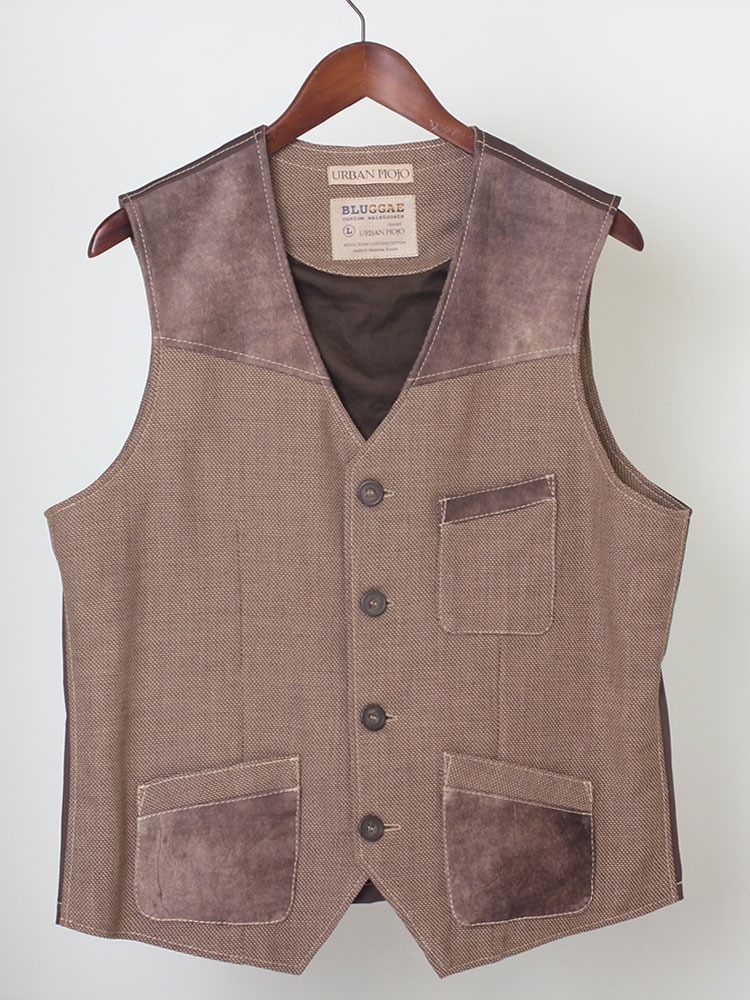 Urban Mojo 02 men's wool and leather waistcoat