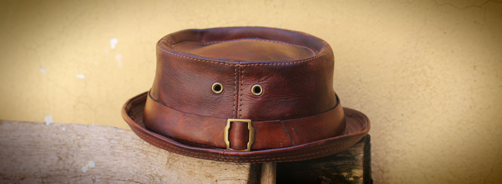 NEW LEATHER PORK PIE HATS